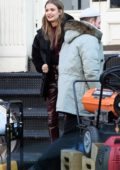 Josephine Skriver spotted on the set of a photoshoot for Maybelline in New York City