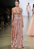 Josephine Skriver walks the runway at Cong Tri Fall 2019 at New York Fashion Week in New York City