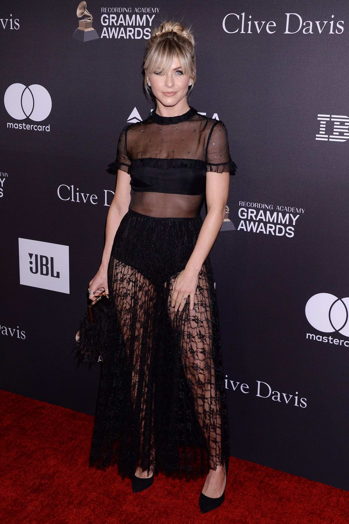 Julianne Hough attends the Clive Davis Pre-Grammy Gala and Salute to Industry Icons held at The Beverly Hilton in Los Angeles