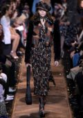 Kaia Gerber walks the runway at Michael Kors fashion show Fall Winter 2019 during New York Fashion Week in New York City