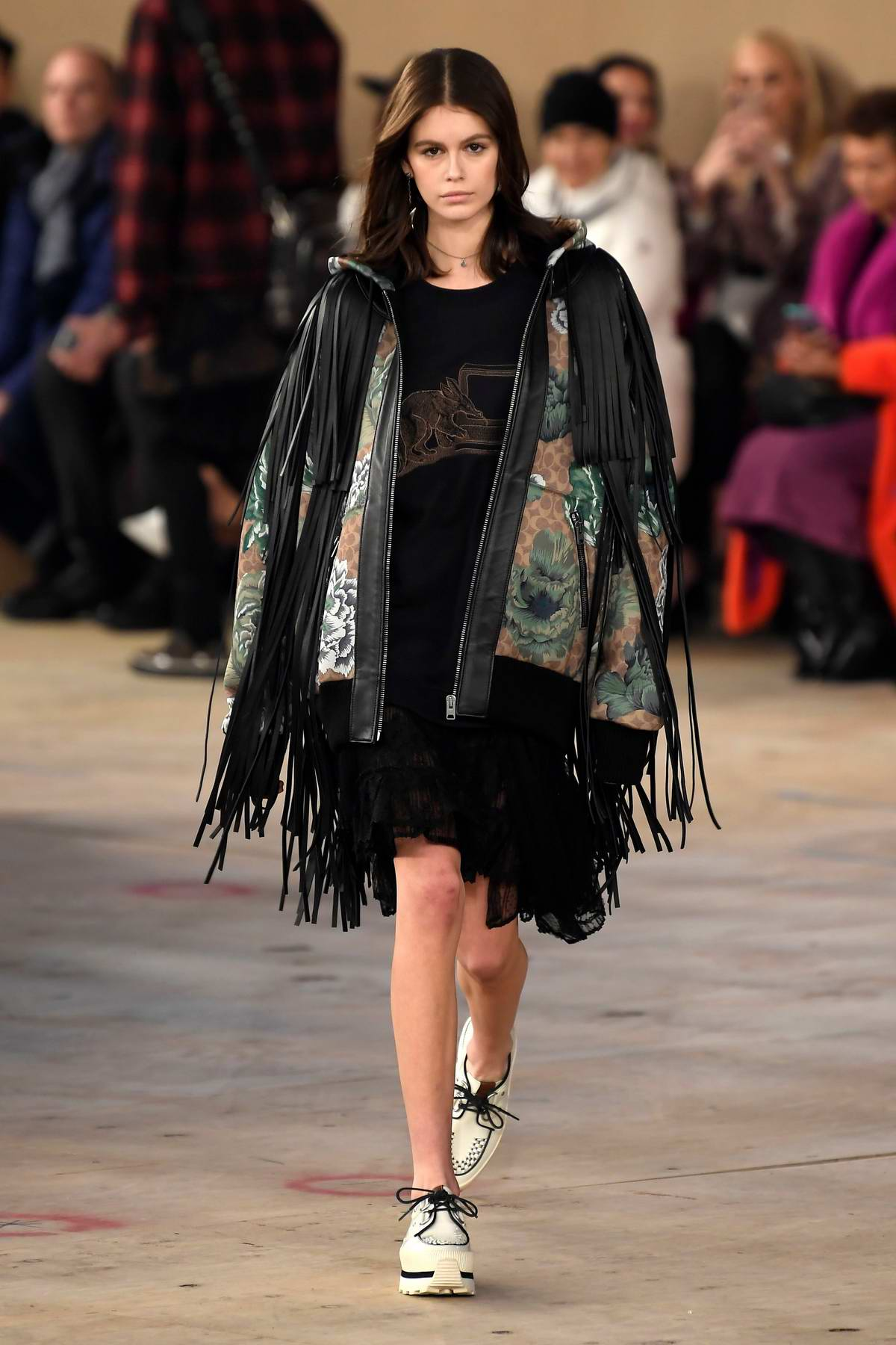 Kaia Gerber walks the runway at the Coach fashion show during New York Fashion Week in New York City