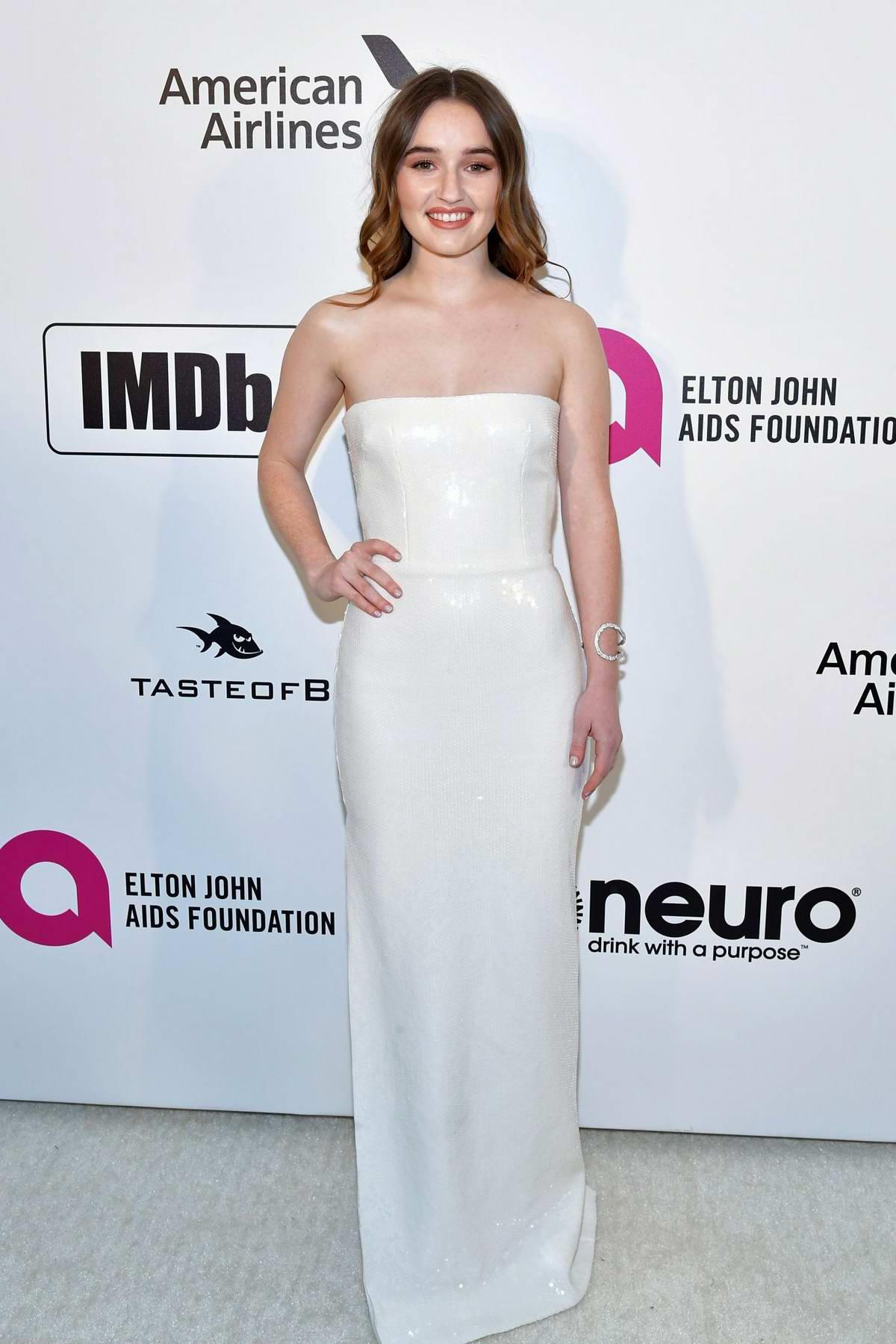 Kaitlyn Dever attends the 27th Annual Elton John AIDS Foundation Academy Awards Viewing Party in West Hollywood, Los Angeles