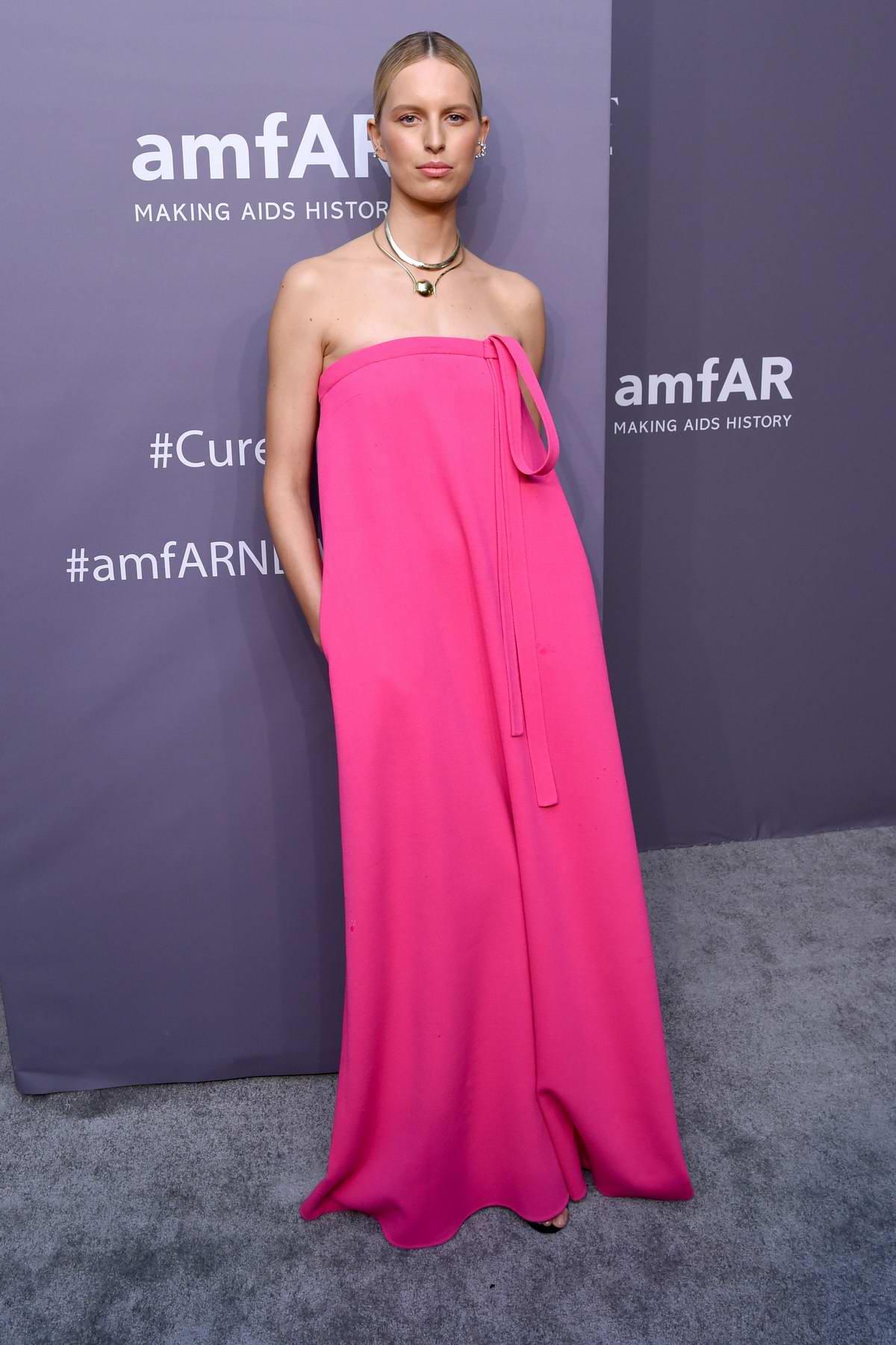 Karolina Kurkova attends amfAR New York Gala 2019 at Cipriani Wall Street in New York City
