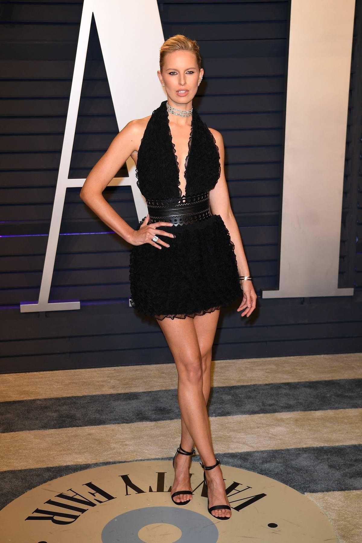 Karolina Kurkova attends the Vanity Fair Oscar Party at Wallis Annenberg Center for the Performing Arts in Beverly Hills, California