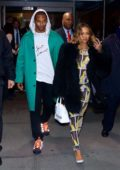 Karrueche Tran and Victor Cruz seen leaving Madison Square Garden in New York City