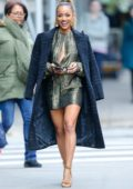 Karrueche Tran looks stylish in Saint Laurent as she leaves her hotel in New York City