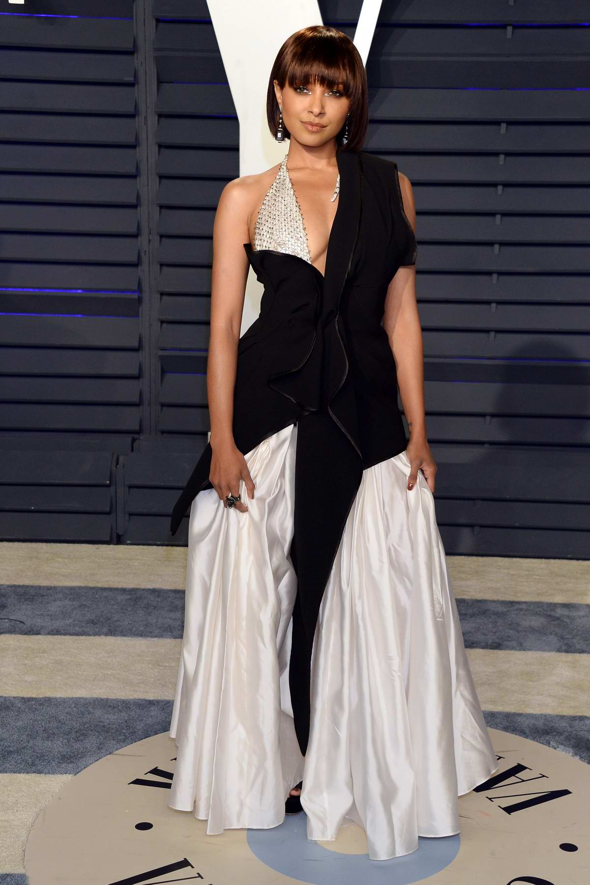 Kat Graham attends the Vanity Fair Oscar Party at Wallis Annenberg Center for the Performing Arts in Beverly Hills, California