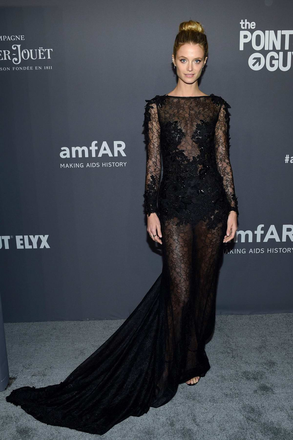 Kate Bock attends amfAR New York Gala 2019 at Cipriani Wall Street in New York City