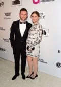 Kate Mara and Jamie Bell attending the 27th Annual Elton John AIDS Foundation Academy Awards Viewing Party in West Hollywood, Los Angeles