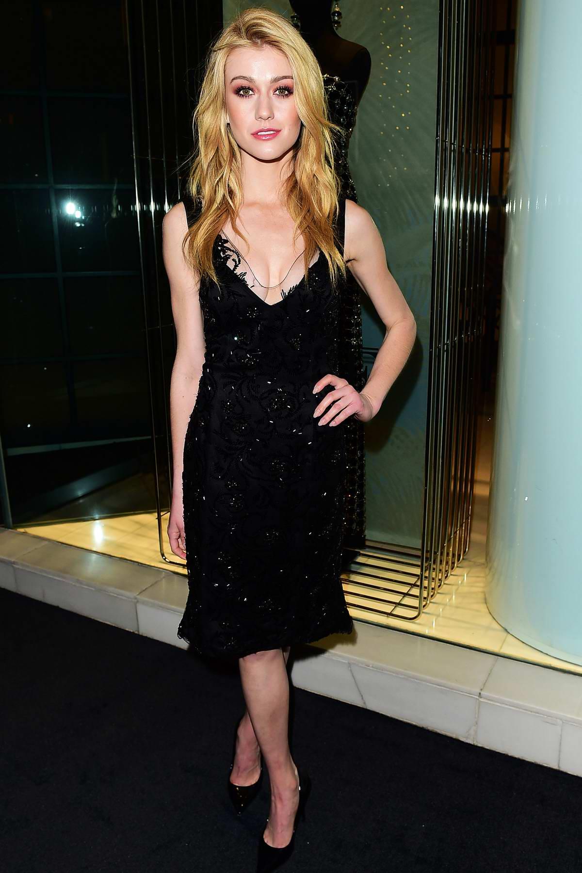Katherine McNamara attends the Giorgio Armani Pre-Oscar Party in Los Angeles