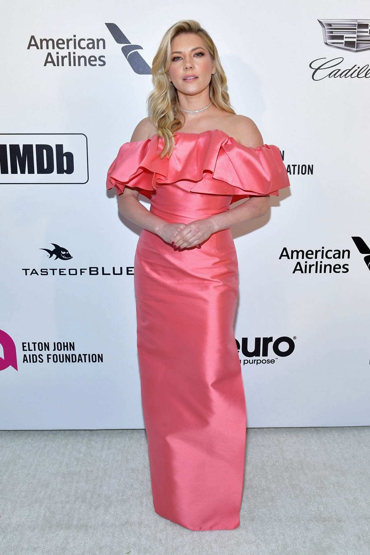 Katheryn Winnick attends the 27th Annual Elton John AIDS Foundation Academy Awards Viewing Party in West Hollywood, Los Angeles