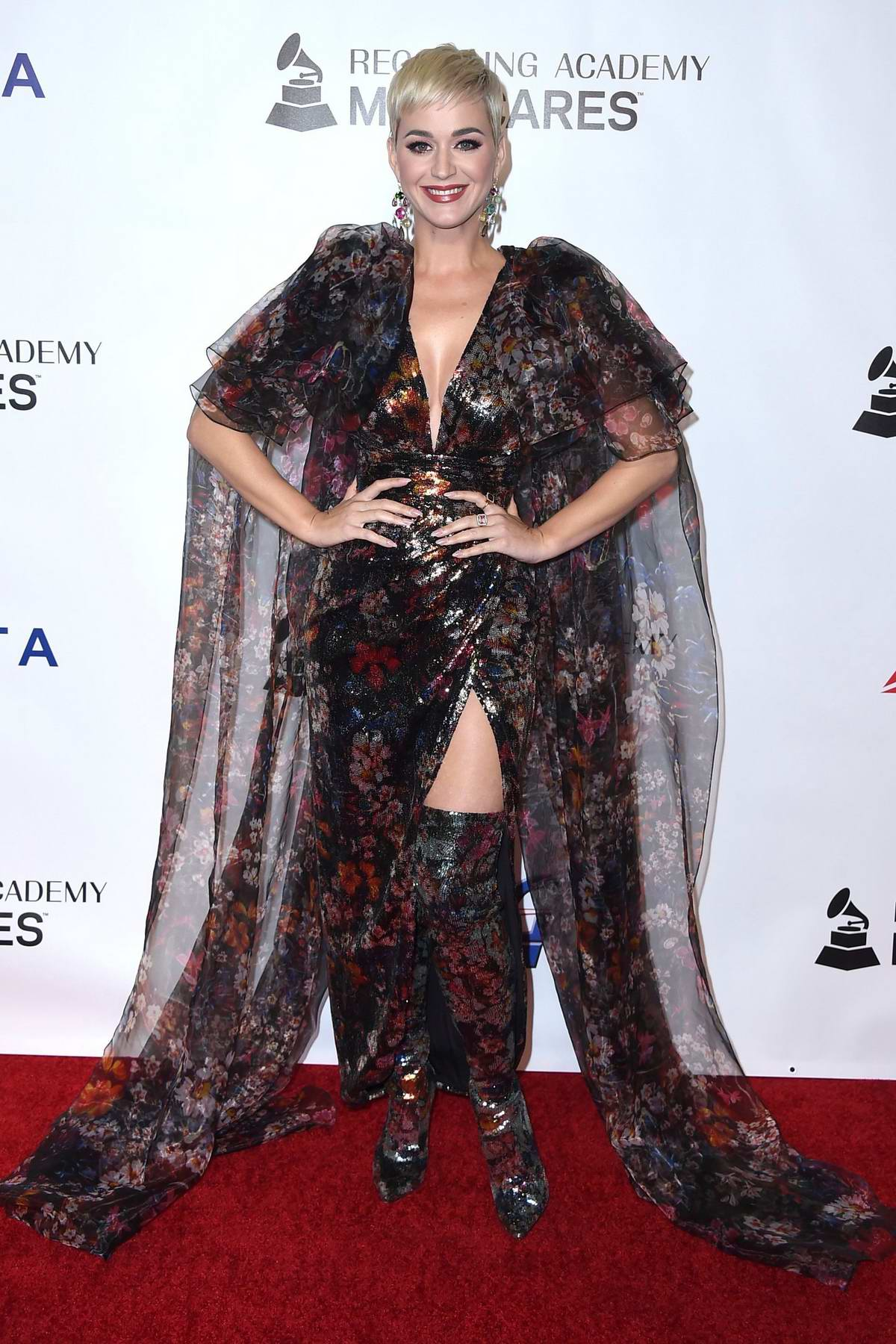 Katy Perry attends the MusiCares 2019 Person of the Year honoring Dolly Parton event at the Los Angeles Convention Center in Los Angeles