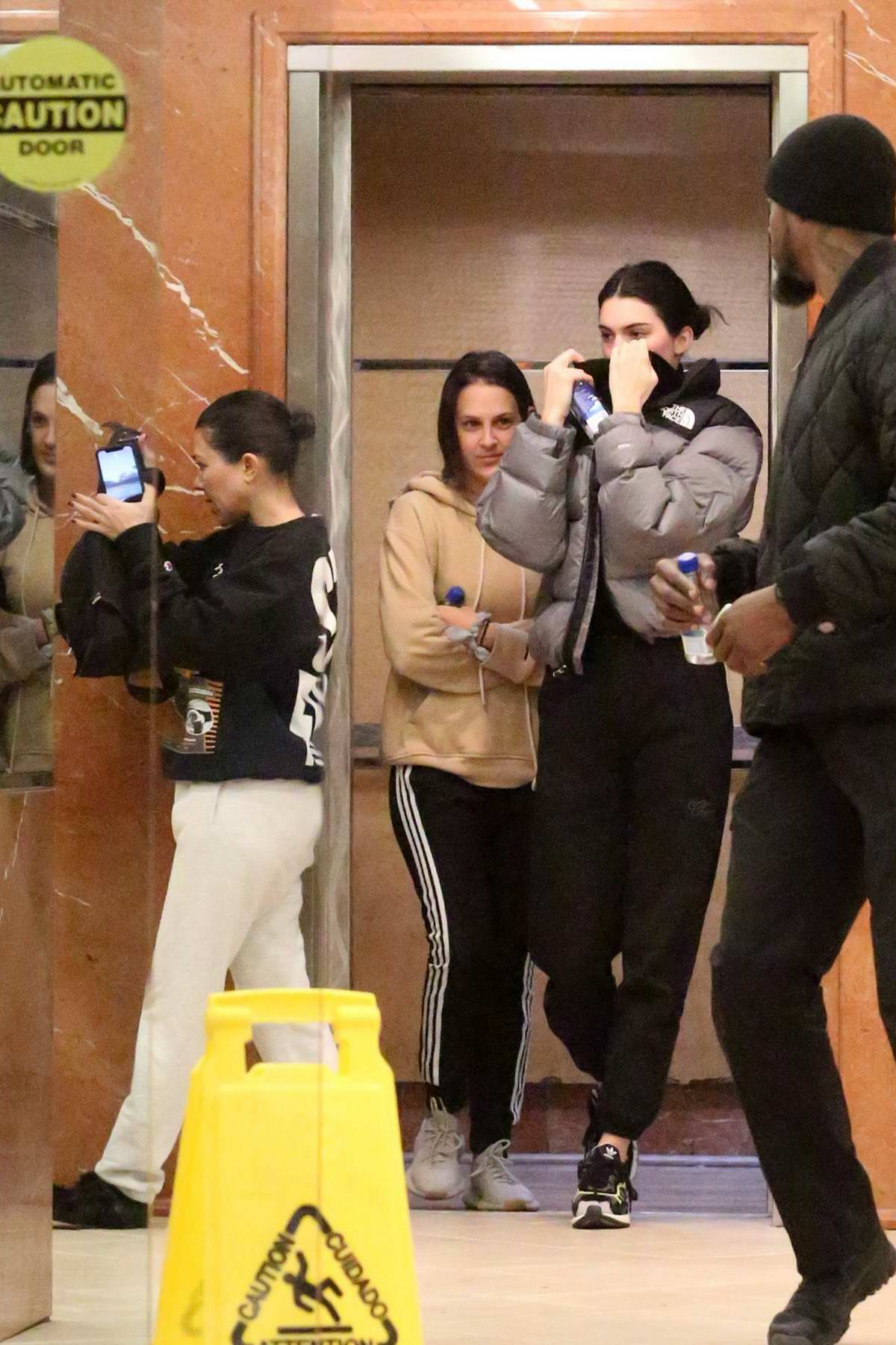 Kendall Jenner and Kourney Kardashian seen leaving a Dermatology Clinic in Beverly Hills, Los Angeles