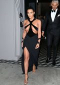 Kim Kardashian stuns in a Thierry Mugler dress as she leaves Craig's restaurant in West Hollywood, Los Angeles