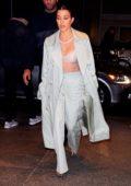 Kourtney Kardashian arrives for dinner with Kim Kardashian at Milos in New York City