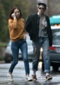 Kristen Stewart and girlfriend Sara Dinkin steps out for coffee in Los Feliz, California