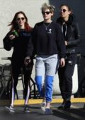 Kristen Stewart and girlfriend Sara Dinkin steps out for some iced coffees in Los Feliz, California