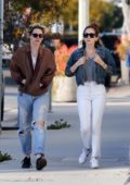Kristen Stewart and Sara Dinkin grabs lunch at Cafe Gratitude before heading to a spa in Los Angeles