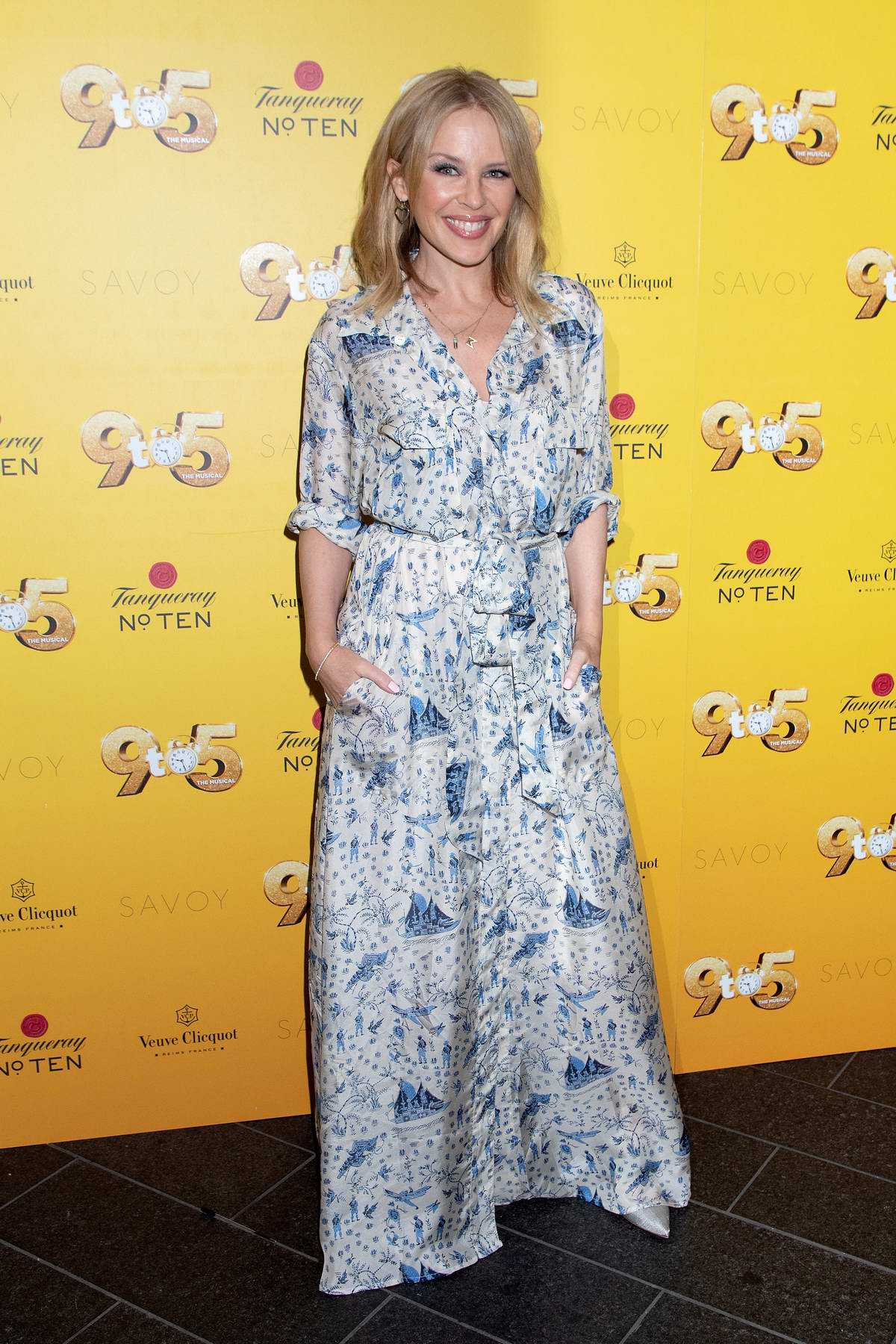Kylie Minogue attends Dolly Parton's '9 to 5' The Musical Gala Evening at The Savoy Theatre in London, UK