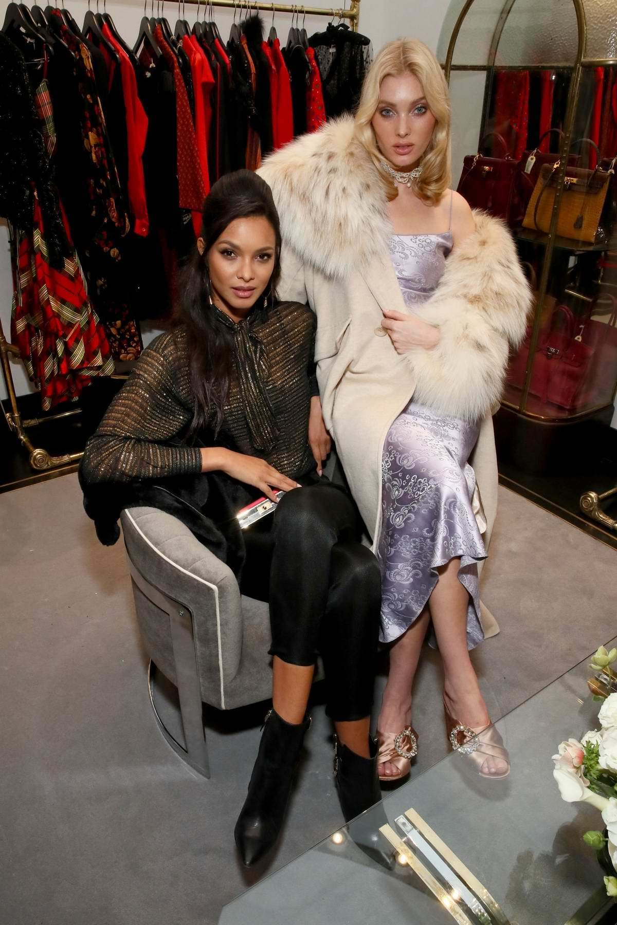 Lais Ribeiro and Elsa Hosk attends the What Goes Around Comes Around Madison Avenue Flagship Opening Celebration in New York City
