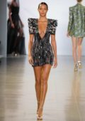 Lais Ribeiro walks the runway at Cong Tri Fall 2019 at New York Fashion Week in New York City