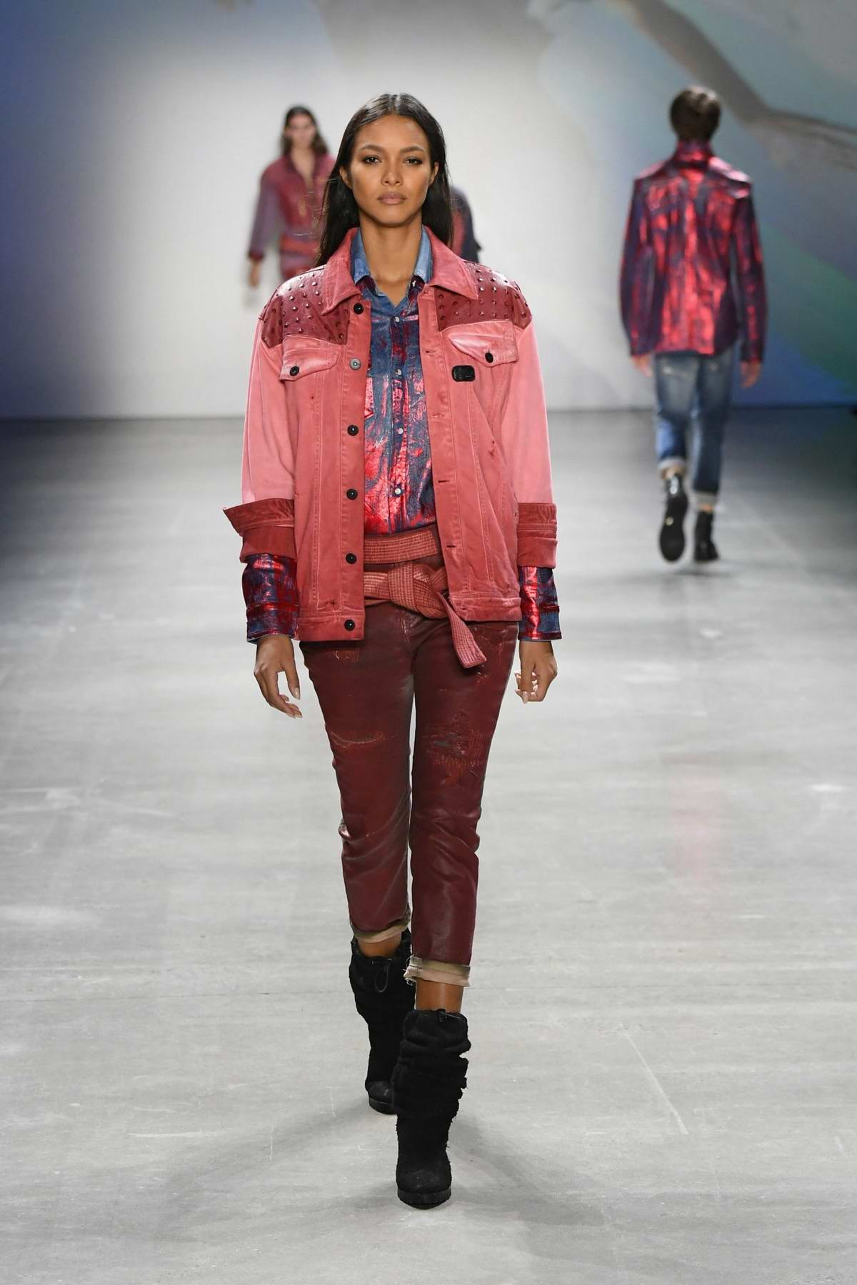 Lais Ribeiro walks the runway at the John John Fashion Show during New York Fashion Week in New York City