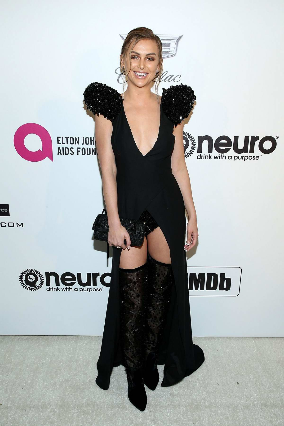 Lala Kent attends the 27th Annual Elton John AIDS Foundation Academy Awards Viewing Party in West Hollywood, Los Angeles