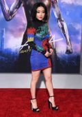 Lana Condor attends the World Premiere of 'Alita: Battle Angel' at Westwood Regency Theater in Los Angeles