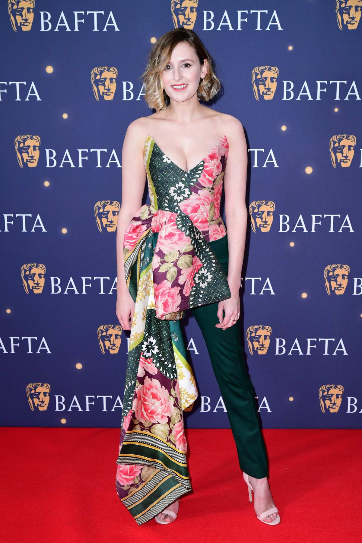 Laura Carmichael attends the BAFTA Film Gala 2019 at the The Savoy Hotel in London, UK
