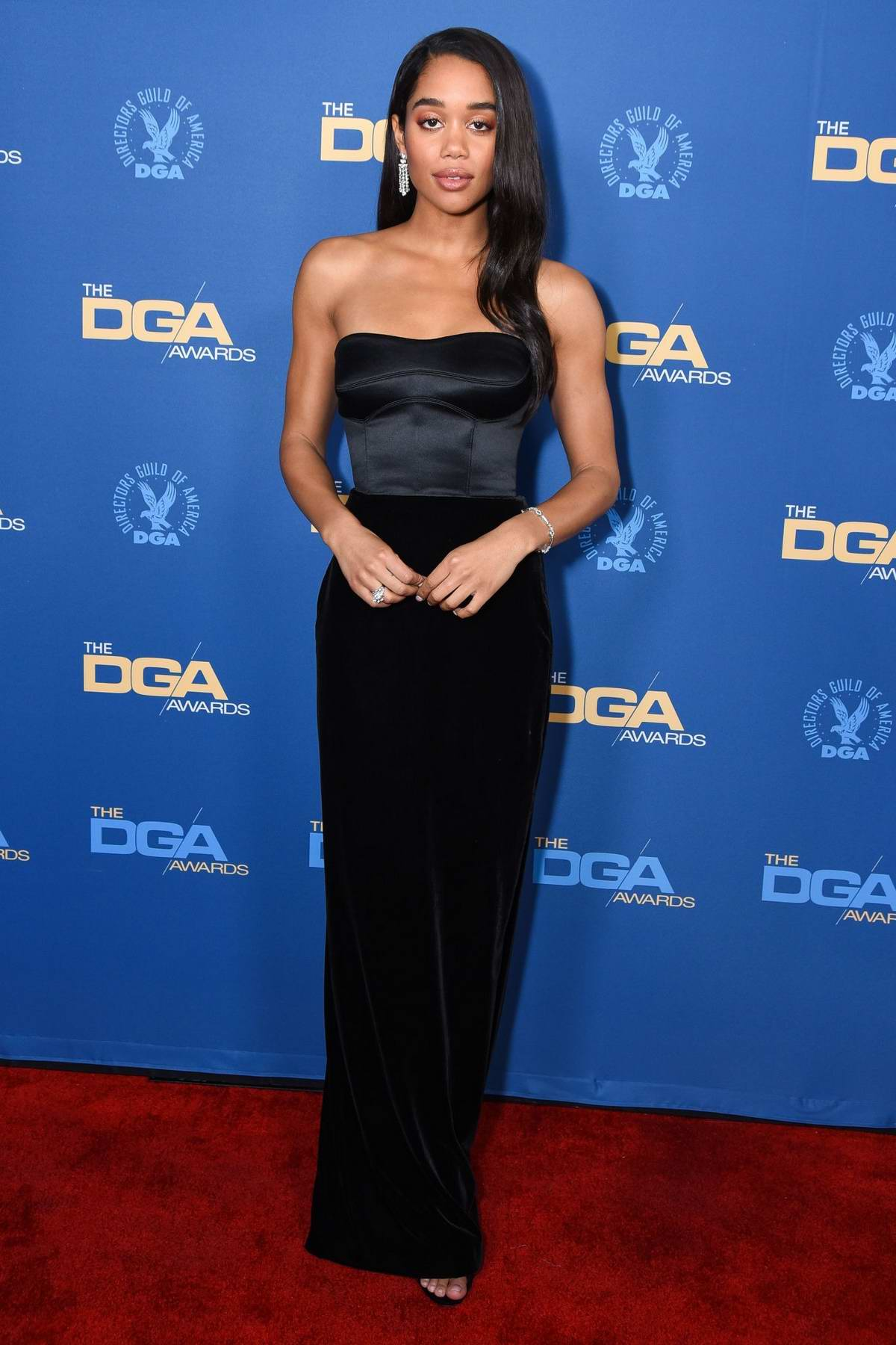 Laura Harrier attends the 71st Annual Directors Guild Of America Awards in Hollywood, California