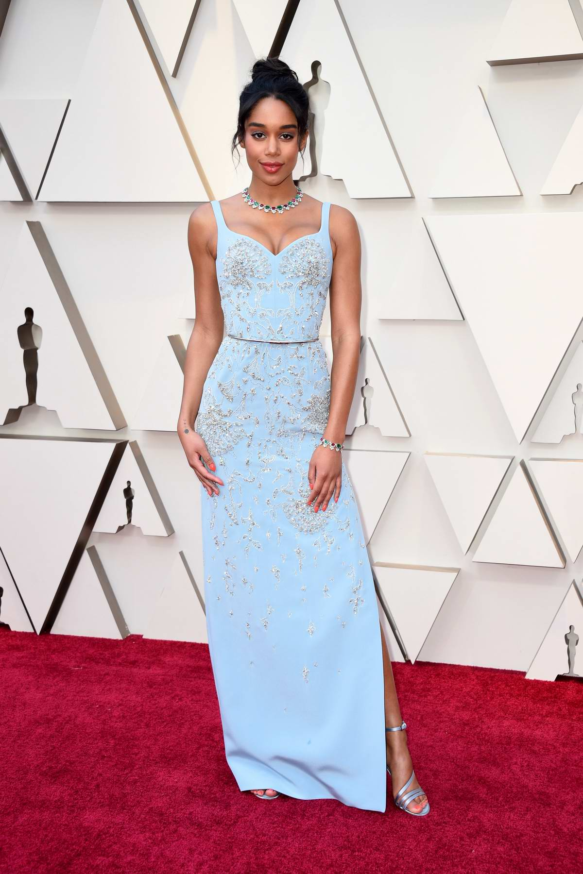 Laura Harrier attends the 91st Annual Academy Awards (Oscars 2019) held at the Dolby Theatre in Hollywood, California