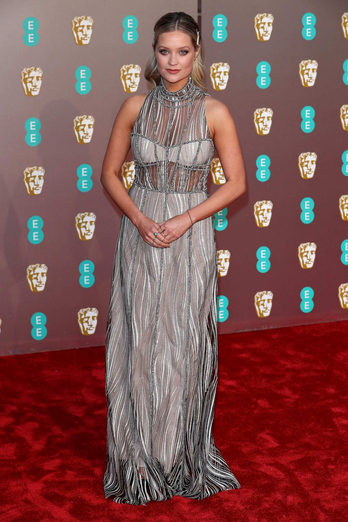 Laura Whitmore attends the 72nd EE British Academy Film Awards (BAFTA 2019) at Royal Albert Hall in London, UK