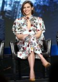Lauren Cohan attends the 'Whiskey Cavalier' panel during the ABC presentation at TCA Winter Press Tour in Pasadena, California