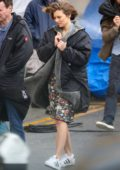 Lauren Cohan spotted while filming scenes for her upcoming show 'Whiskey Cavalier' in Santa Monica, California
