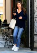 Lea Michele shows off her fresh hair cut as she leaves the Nine Zero One Salon in West Hollywood, Los Angeles