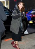 Lena Headey bundles up for the east coat chill as she arrives at Good morning America in New York City