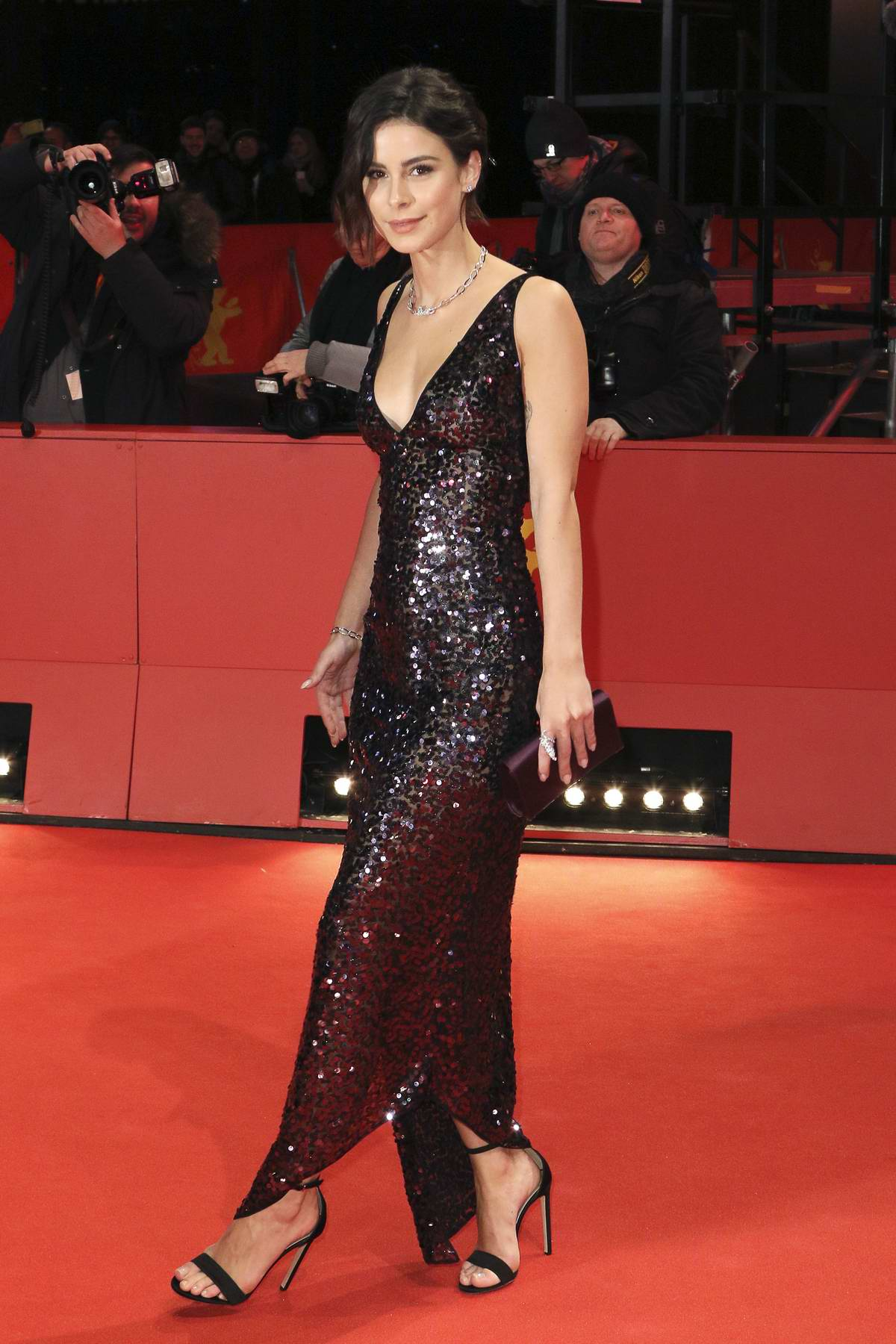 Lena Meyer-Landrut attends 'By the Grace of God' Premiere during the 69th Berlin International Film Festival in Berlin, Germany