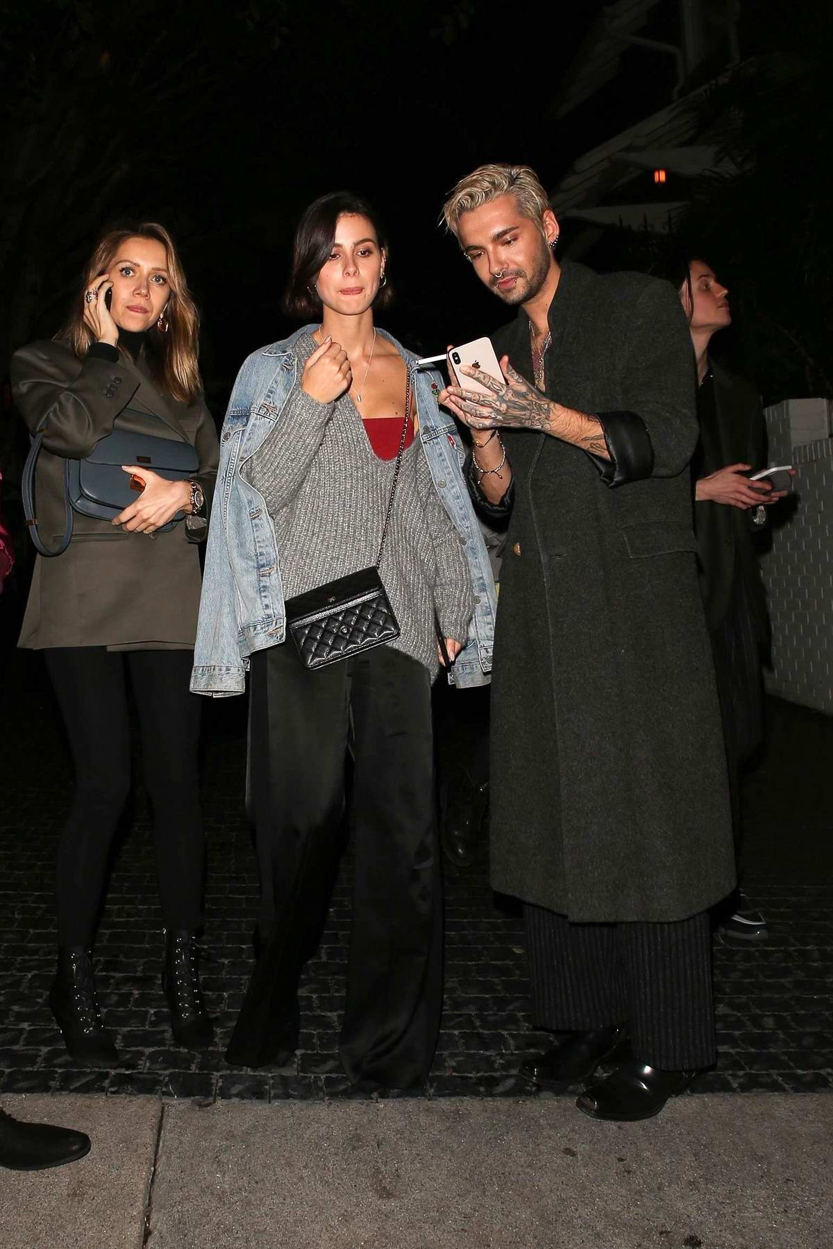 Lena Meyer-Landrut grabs dinner with Bill Kaulitz at Chateau Marmont in West Hollywood, Los Angeles