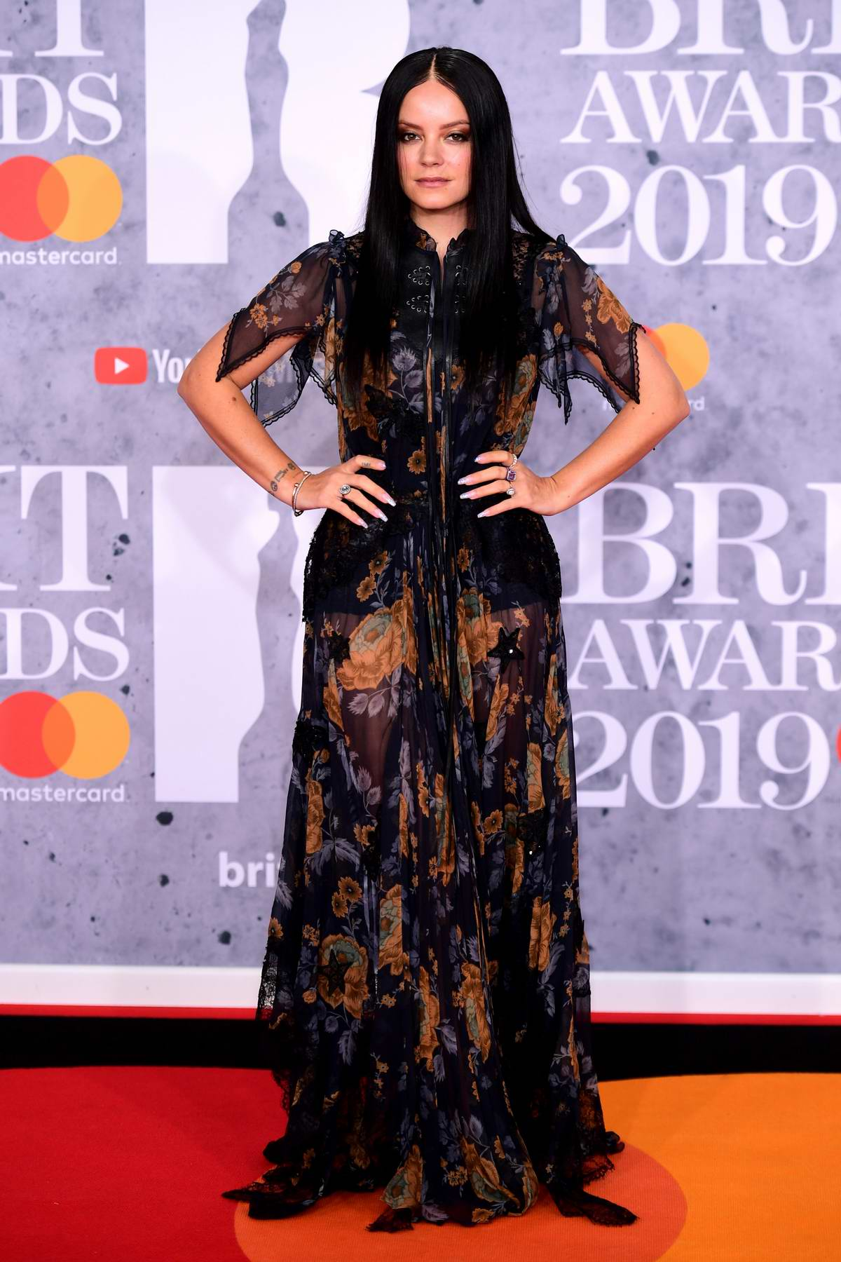 Lily Allen attends The BRIT Awards 2019 held at The O2 Arena in London, UK