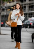 Lily Collins looks cute in a tutleneck sweater while out shopping at Sprouts in Los Angeles