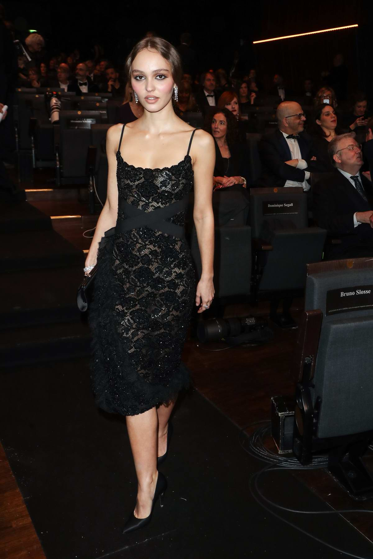 Lily-Rose Depp attends the 44th Cesar Film Awards ceremony held at the Salle Pleyel in Paris, France