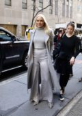 Lindsey Vonn looks stylish in her all grey ensemble while visiting NBC Studios in New York City