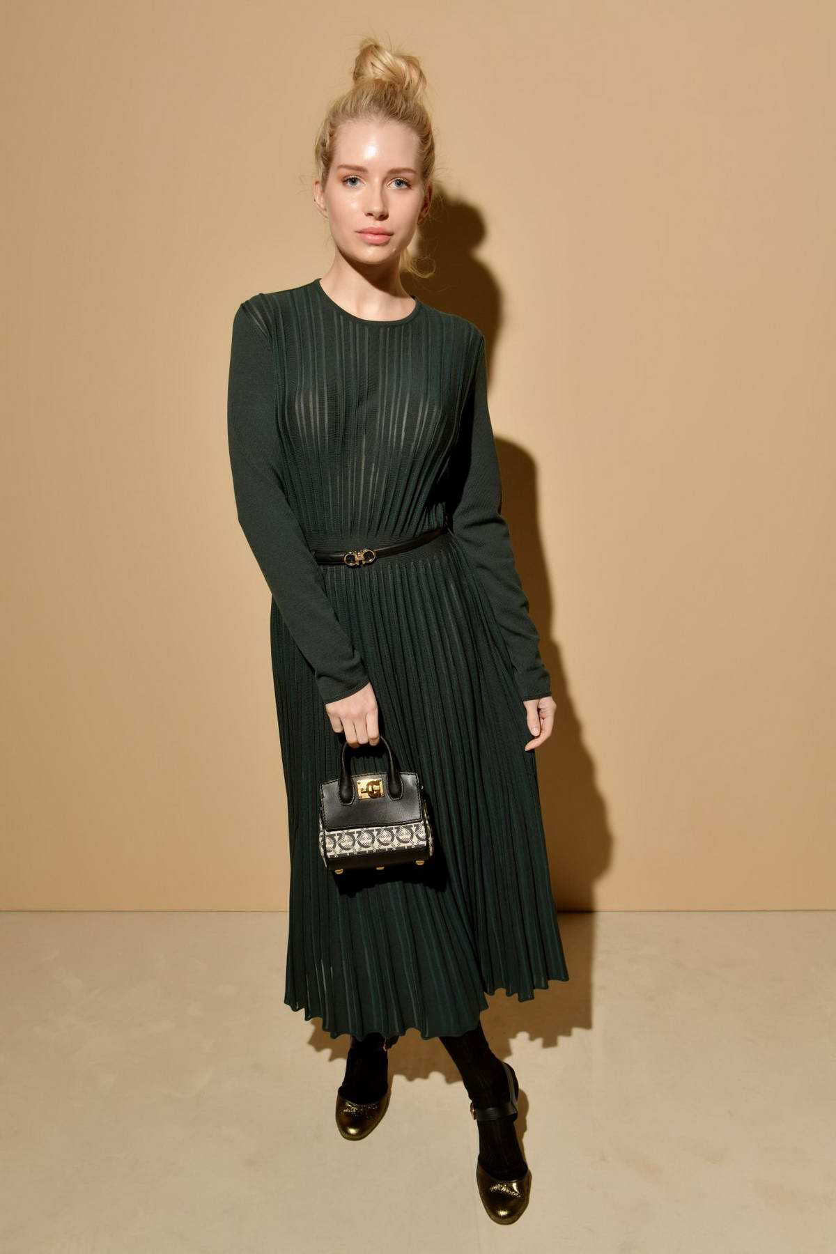 Lottie Moss attends the Salvatore Ferragamo Show, Fall Winter 2019 during Milan Fashion Week in Milan, Italy