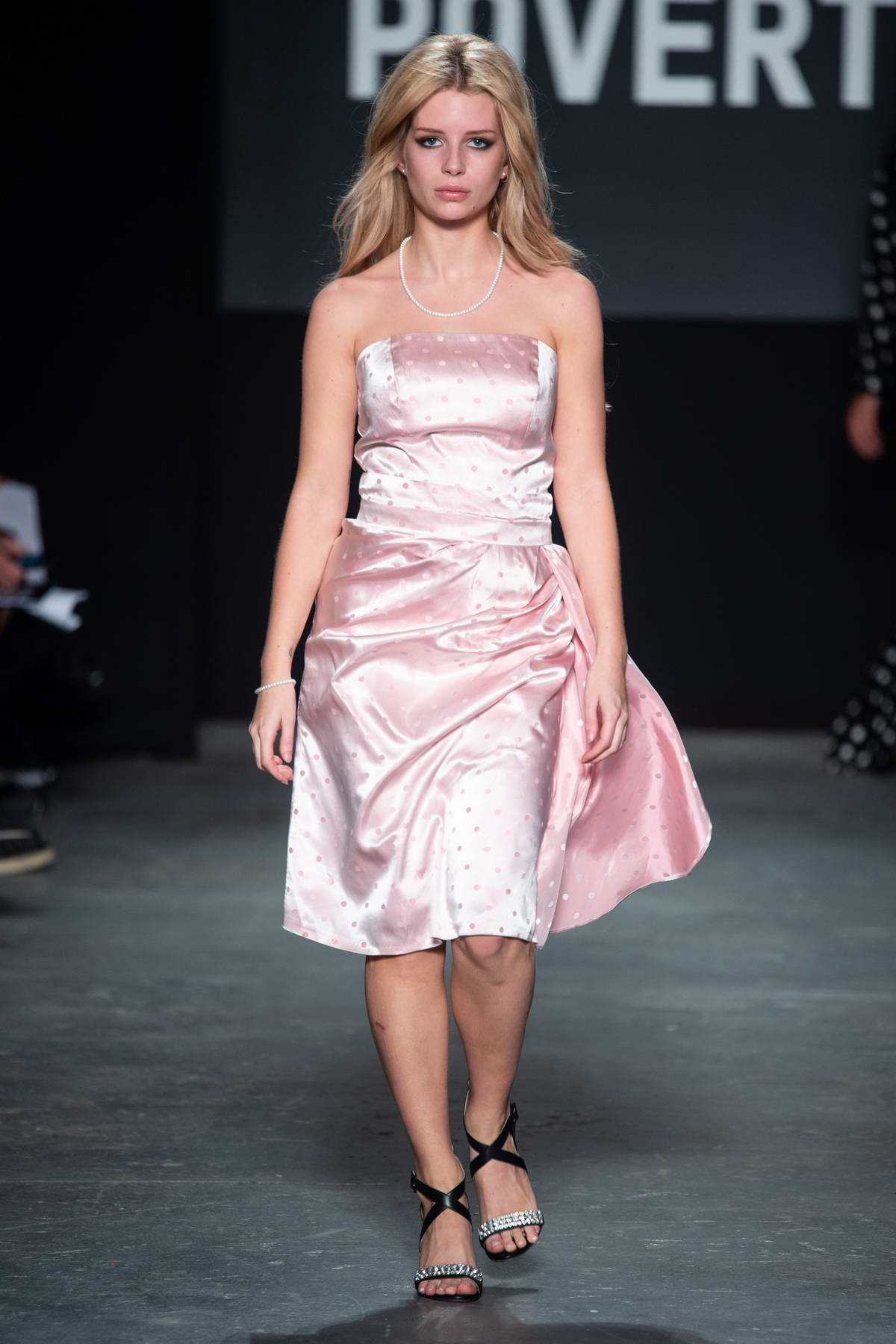 Lottie Moss walks the runway for Oxfam Fighting Poverty Fashion Show during London Fashion Week in London, UK