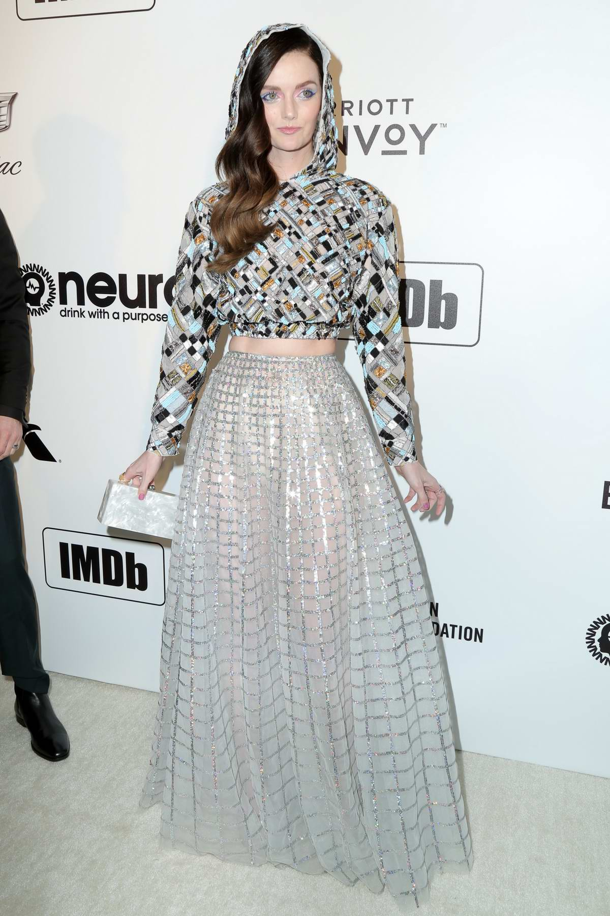 Lydia Hearst attends the 27th Annual Elton John AIDS Foundation Academy Awards Viewing Party in West Hollywood, Los Angeles
