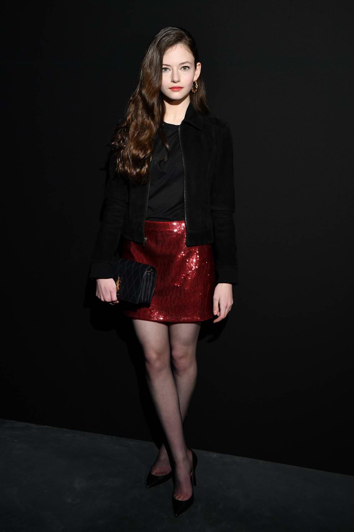 Mackenzie Foy attends the Saint Laurent show during Paris Fashion Week Womenswear Fall/Winter 2019/2020 in Paris, France