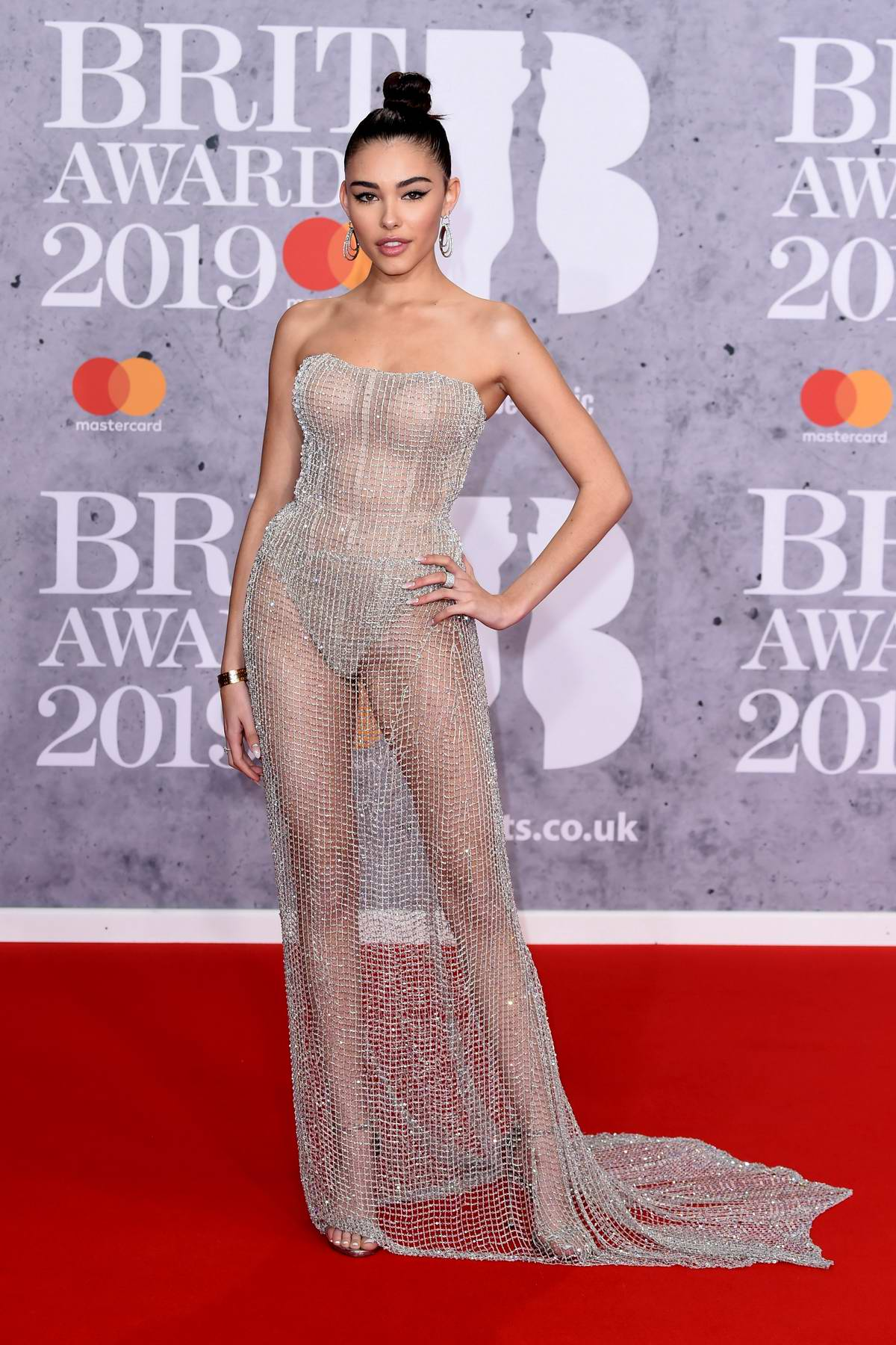 Madison Beer attends The BRIT Awards 2019 held at The O2 Arena in London, UK