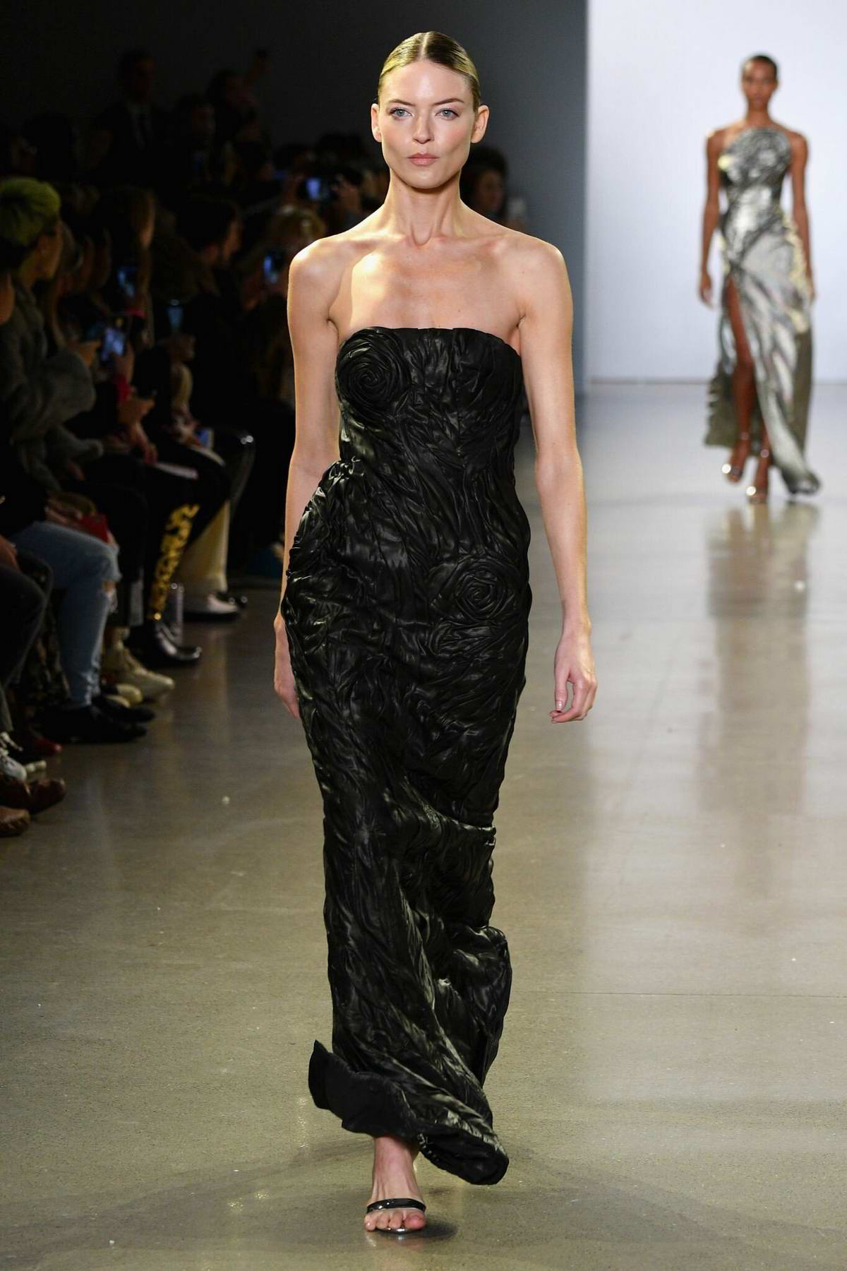Martha Hunt walks the runway at Cong Tri Fall 2019 at New York Fashion Week in New York City