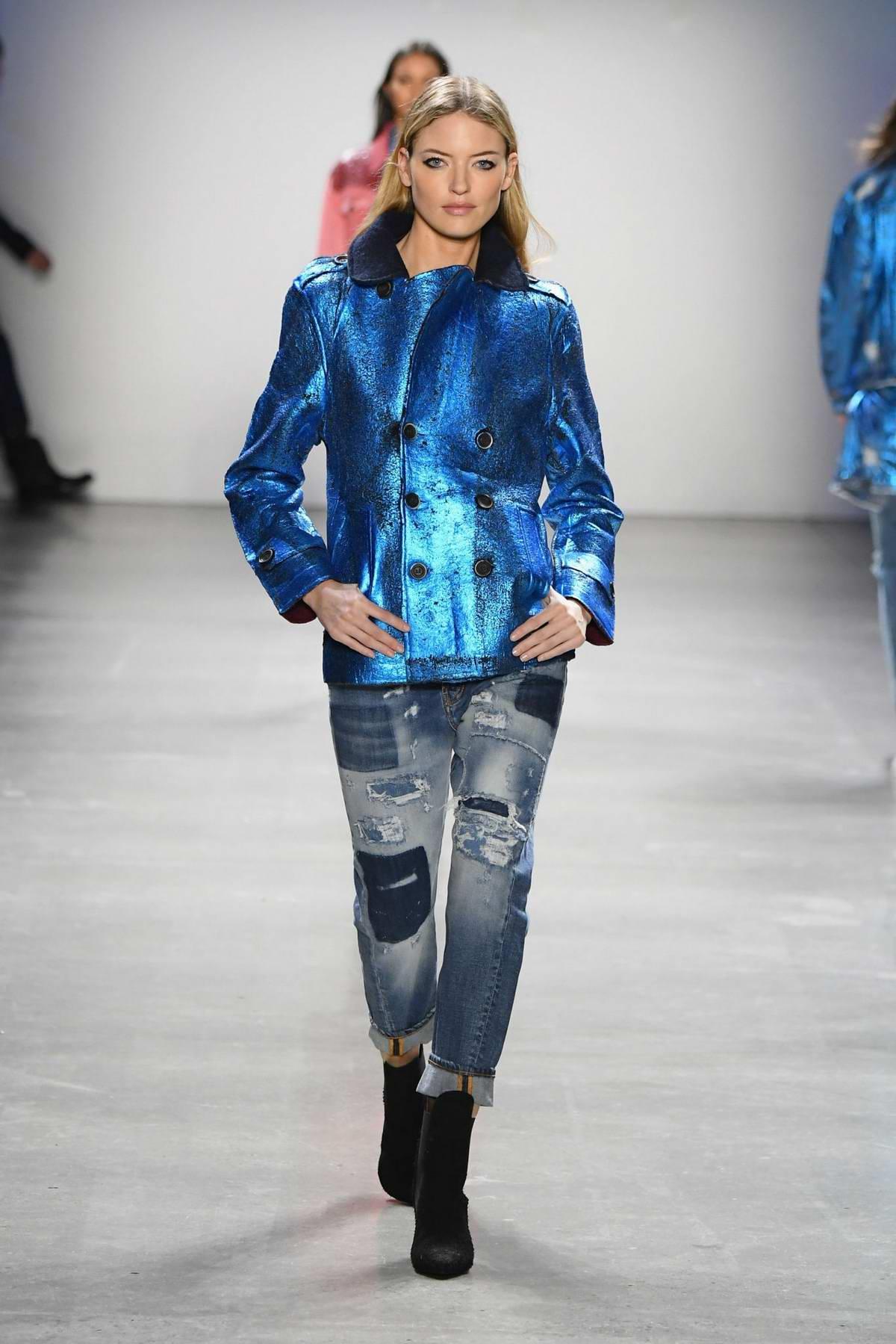 Martha Hunt walks the runway at the John John Fashion Show during New York Fashion Week in New York City