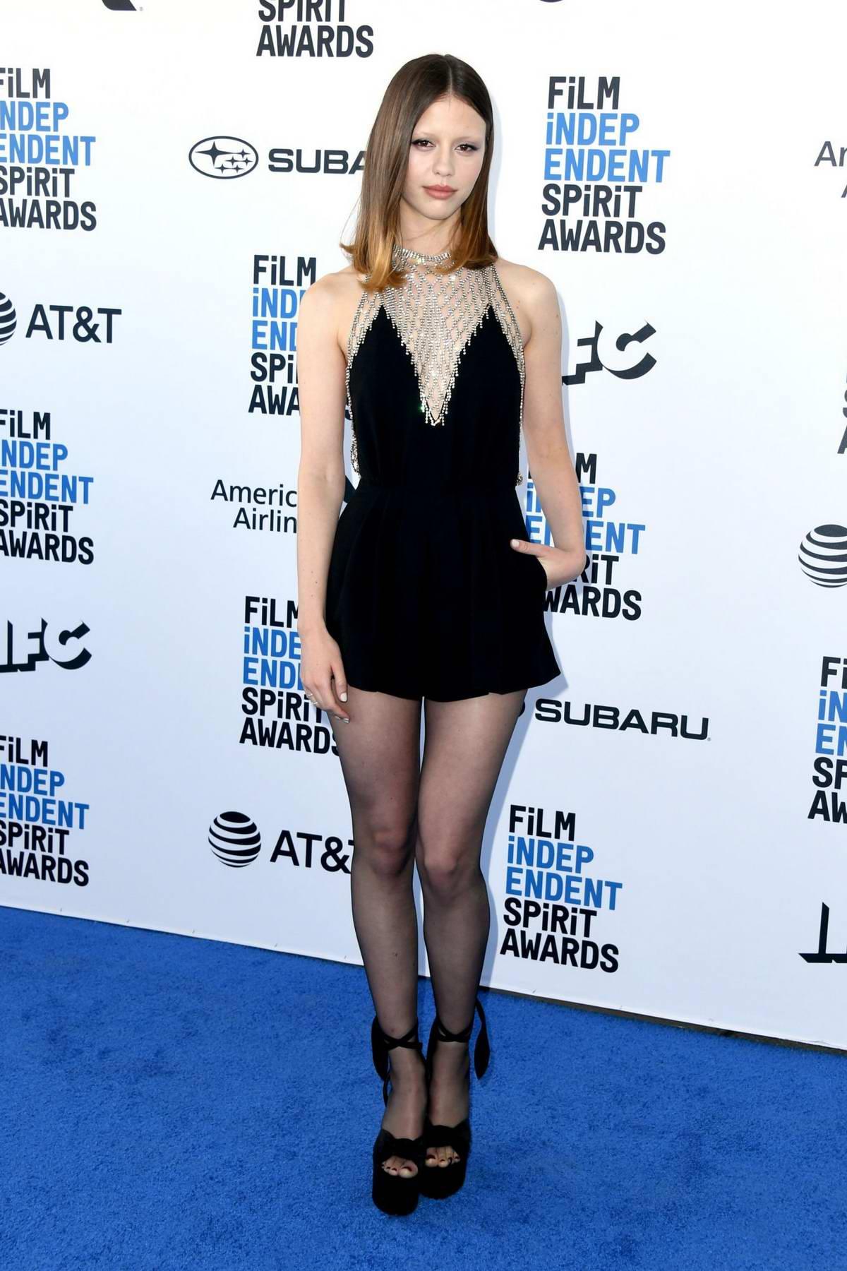 Mia Goth attends the 34th Film Independent Spirit Awards in Santa Monica, California